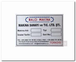 Metal etiket imalatı